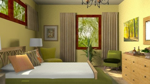Yellow bedroom - Classic - Bedroom  - by milyca8