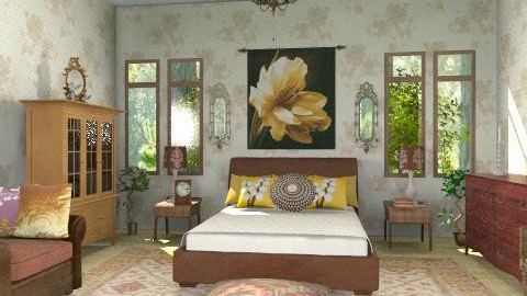 Brown-B - Classic - Bedroom  - by milyca8
