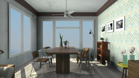 Wood  - Retro - Living room  - by Agnes Lai