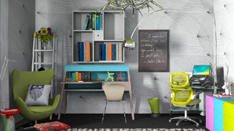 The writer's den  - Eclectic - Office  - by carolinafer
