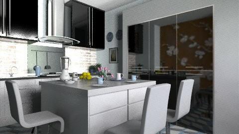 BW - Modern - Kitchen  - by milyca8