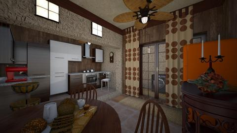 Autumn Pattern Kitchen - Kitchen  - by Tupiniquim