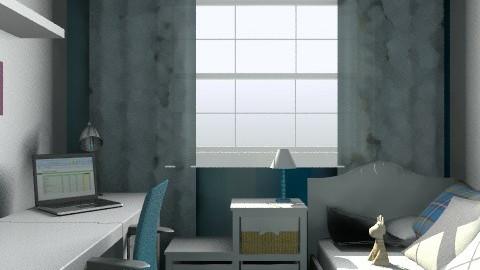 Chambre/bureau de Julie D. 3 - Eclectic - Office  - by Yellow1806