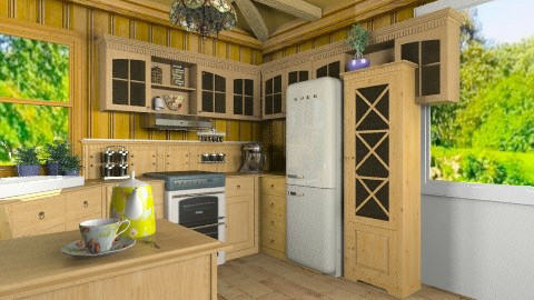 All Wood - Vintage - Kitchen - by katajosip