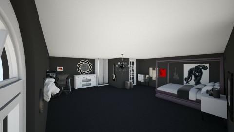 Emo Teen boy room - by Marlena Rude