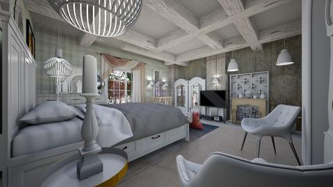 Bedroom White _1 - Eclectic - Bedroom - by Nikos Tsokos