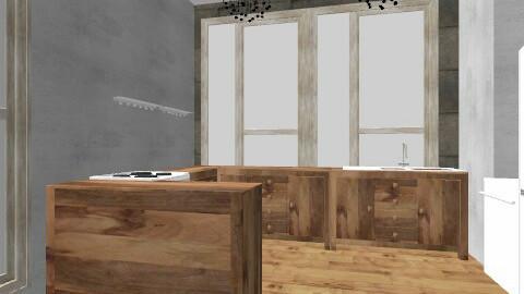 kitchen  - Retro - Kitchen  - by cloedale231