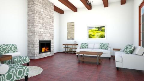 Banff - Rustic - Living room  - by Vampire_Kitty