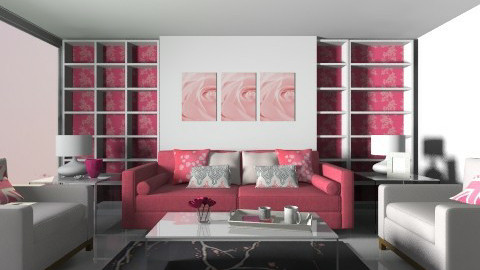 Pretty in Pink - Feminine - Living room - by MeeraPatel357