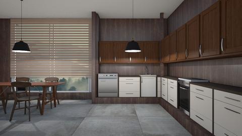 Mismatch Wood - Modern - Kitchen  - by designcat31