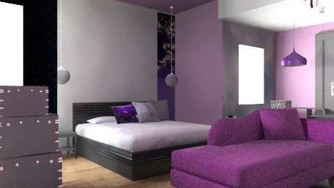 silver and puple - Classic - Bedroom - by Lizette Najera