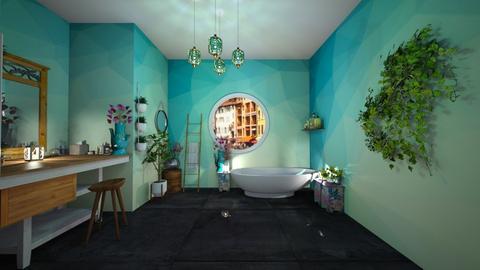Blue Bathroom - Bathroom - by miskribas