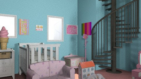 Nursery in style :) - Retro - Kids room  - by prettygurlmya