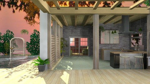 Patio at sunset - Classic - Garden  - by Shelley0514