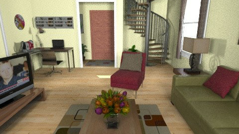 home 4 - Glamour - Living room  - by sally89