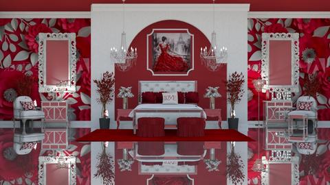 RED ROMANCE - Feminine - Bedroom  - by RS Designs