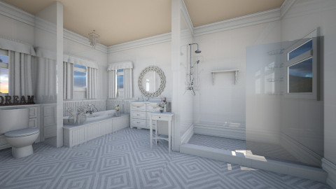 White - Bathroom  - by deleted_1513655778_Valencey14