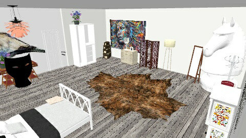 room art  - Rustic - Bedroom  - by nico3