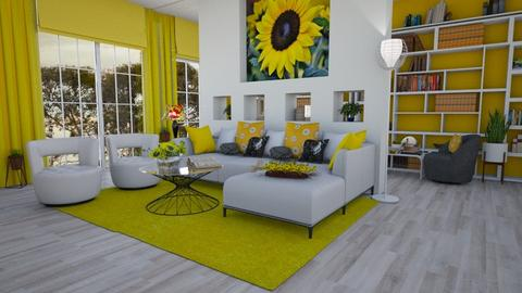 Sunflower Living - Living room  - by Nina Colin