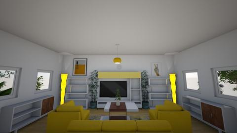 Yellow Living Room - Living room  - by kasjdg