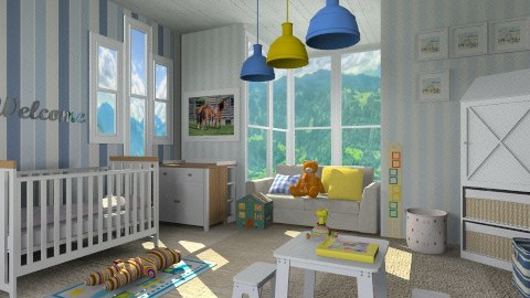 Boy Story - Modern - Kids room  - by vesperart