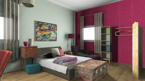 WG Ohwsome Room - Rustic - Bedroom  - by Katrina Yu