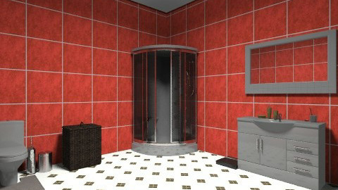 redbathroom2 - Minimal - Bathroom  - by kiki199