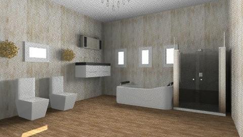 house 1 master bath - Glamour - Bathroom  - by chrissymorrgan