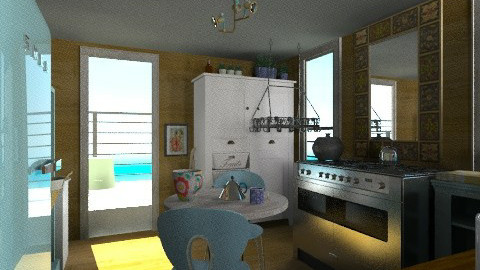 Wide beam - Eclectic - Kitchen  - by mrschicken