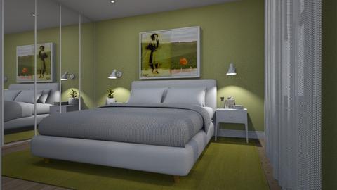 Sage Green Bedroom - by Valentinapenta