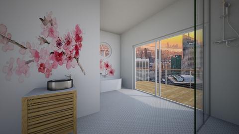 Cherry Blossom Bathroom - Bathroom  - by KierraClumdesign