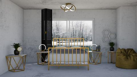 Gold concrete 2 remix - Bedroom  - by rubbaduk_