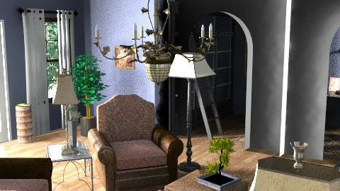 Library - Eclectic - Living room  - by Taffy DeJarnette