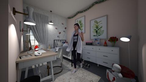 CHRISTMAS ROOM TEENAGE - Classic - Bedroom  - by zaryah123