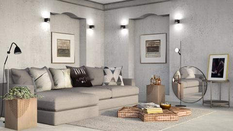 M_ Concrete - Modern - Living room  - by milyca8