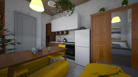 studio kitchen - Minimal - Kitchen - by BlokhEphroni