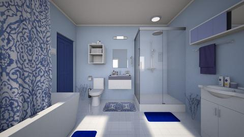 Blue Bathroom - Modern - Bathroom  - by Sophia Cooper