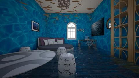 Aqua Room - Glamour - Bedroom  - by 3dCreator13