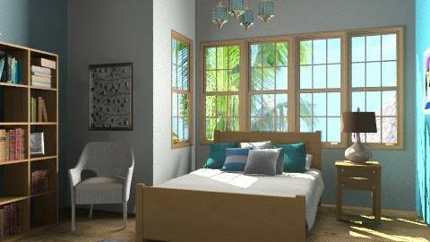 blue - Classic - Bedroom  - by Aliya Al