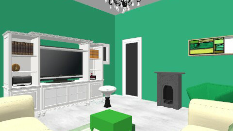 green black an white - Vintage - Living room  - by taylorbrown