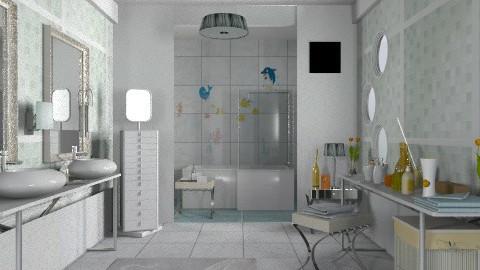 White - Modern - Bathroom  - by milyca8