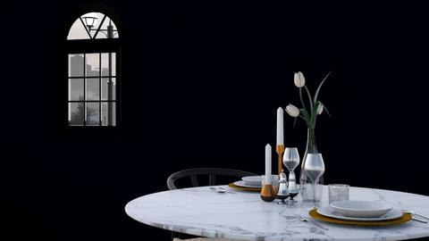 Table for two - Minimal - Dining room  - by HenkRetro1960