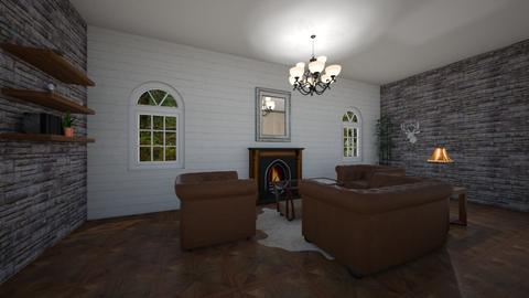 Wood Contest - Rustic - Living room  - by quinngenevieveb