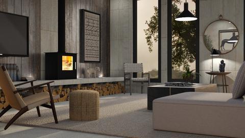Concrete Room 2 - Living room  - by GraceKathryn