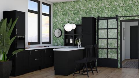 Black kitchen - Kitchen  - by Victoria_happy2021