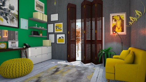 work in yellow - Vintage - Office  - by Ripley86
