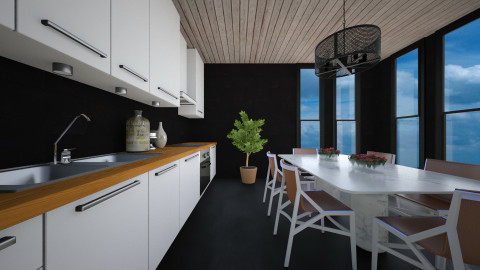 Minimal Black Kitchen - Modern - Kitchen  - by 3rdfloor