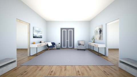 simply blue - Living room - by IssaH
