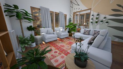 Boho Living - Living room  - by nkanyezi