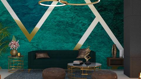 Green  - Glamour - Living room - by Savina Ivanova